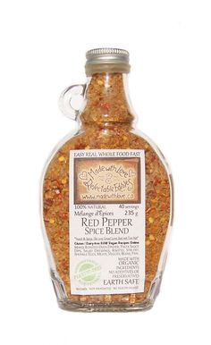 Sweet & Sizzling Red Pepper 9oz Bottle - Organic & Gluten Free Artisan Spice & Rub Blend by Made with Love Delectable Edibles on Gourmly