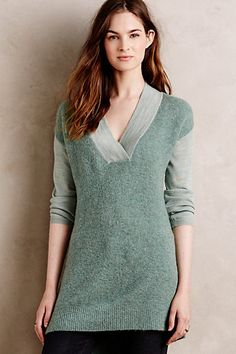 Colorblocked Boucle Pullover #anthropologie
