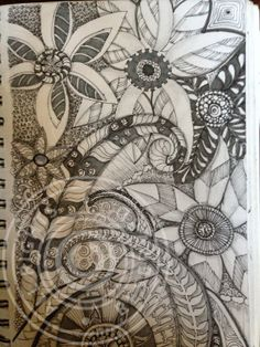 zentangle door - this design was taken off of beautiful doors on a ship made of stainless and brass - which in turn was taken off  of another famous work of art...