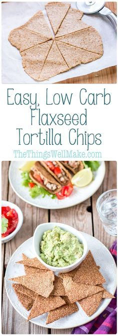 Easily make these low carb, crispy, flaxseed vegan and paleo tortilla chips and taco shells in less than 30 minutes, using just three simple ingredients! via @thethingswellmake