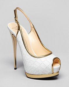 Giuseppe Zanotti Peep Toe Platform Pumps - Sharon High Heel | Bloomingdale's