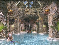 Grove Park Inn Spa, built above and underground, in Asheville, NC.  I've never been, but I'd love to go one day!