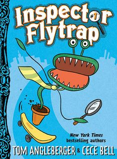 Inspector Flytrap (Inspector Flytrap Series by Tom Angleberger & CeCe Bell. Silly, sometimes gross mysteries solved by a Venus Flytrap and his assistant Nina the Goat. Easier than Captain Underpants but for the same crowd. Book Series, Book 1, The Book, Origami Yoda, Reluctant Readers, Early Readers, Chapter Books, Used Books, Children's Books