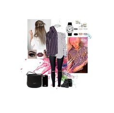 """""""Ren [NU'EST] inspired outfit  Love Paint era"""" by chansoo ❤ liked on Polyvore featuring Givenchy, Monse, Senso, BERRICLE, Rosendahl, Lime Crime and Lancaster"""