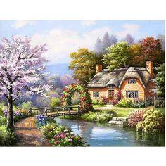Afbeeldingsresultaat voor schilderijen met english cottages