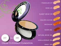 Cream to Powder Foundation Our 9 classic, best-selling shades, in a new and innovative Aloe Vera inspired formula, transform from a luxurious, creamy texture to a silky powder leaving your skin soft, with a healthy and natural glow. Aloe Vera and Orchid Extract work together to create the perfect texture that blends easily into the skin to perfect a velvety, silky and flawless finish. Order at  http://myflpbiz.com/esuite/home/aloehealth