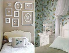 Оформление стен в детской комнате в стиле прованс #interior #мебель #дизайн #интерьер #дом #уют #декор