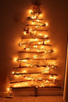 christmas tree on wall branches | Turtles and Tails: Christmas Tree Off the Wall? No, It's on the Wall!
