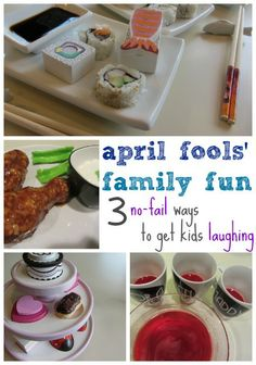 april fools family fun: 3 no-fail ways to get kids laughing any day of the year | teachmama.com  | no JOKE the fake chicken wings make me DIE laughing