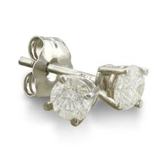 1/3ct Round Diamond Stud Earrings in 14K White « Holiday Adds