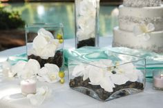 natural orchid wedding tablescape