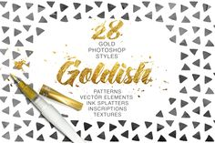FREE down load,Goldish - Gold Styles with Bonus by Ruslan Zelensky on Creative Market