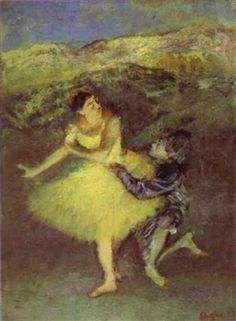 Harlequin and Colombine By Edgar Degas ,1886
