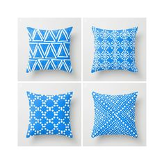 Throw Pillow - Modern Sky Blue and White Geometric triangle circle dot - Throw Pillow Cover 16 18 20 24 inch by ButtercupForrest on Etsy