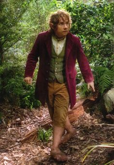Check out colors on Bilbo... If bridesmaids wear red with gold accents, and flower fairies wear green and gold with red floral accents, our hobbit ring bearer can wear a red jacket over his green vest to pull it all together!