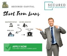 Get easy short term cash loans quickly at Secured Capital. Apply online through the simple application process! Formal Quotes, Need A Loan, Second Mortgage, Short Term Loans, Quick Cash, Loans For Bad Credit, Need Cash, Apply Online, Natural Disasters