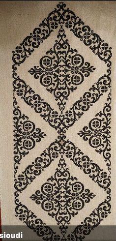 Cross Stitch Borders, Cross Stitch Rose, Cross Stitch Flowers, Cross Stitch Charts, Cross Stitching, Cross Stitch Patterns, Needlepoint Stitches, Crochet Stitches Patterns, Embroidery Stitches