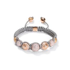 diamonds, 18k rose gold Shamballa Bracelet