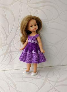 Clothes for mini dolls Paola Reina, doll 8,27 inch/21cm crochet dress for doll clothing Barbie Clothes, Barbie Dolls, Flower Lights, Doll Shop, Dress With Cardigan, Handmade Dresses, Crochet Cardigan, Dress Making, Flower Girl Dresses