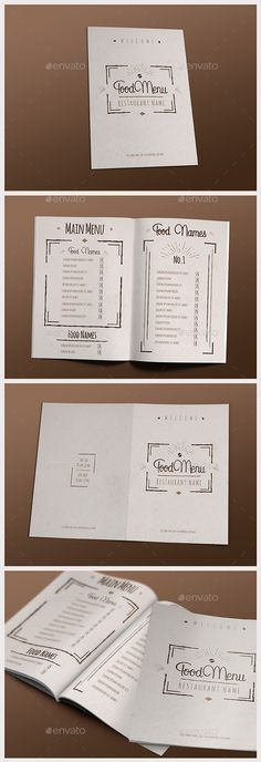 Restaurant Menu Restaurant menu template, Menu templates and Menu - breakfast menu template