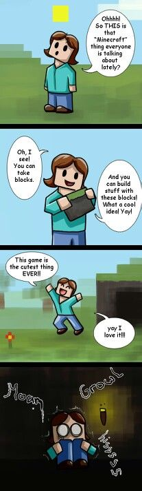 Minecraft is not cute at all