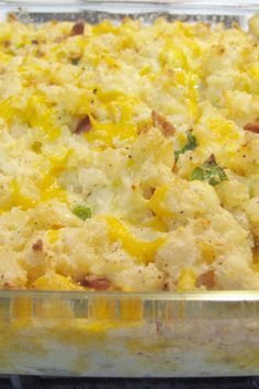 Twice Baked Potato Casserole Recipe with Bacon & Cheese