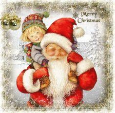 *CHRISTMAS PAST ~ vintage santa...