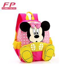 Cartoon 2016 Minnie Children School Bag For Girl Boy Kid Bag Backpack Student Schoolbag Teenagers Cute Bags