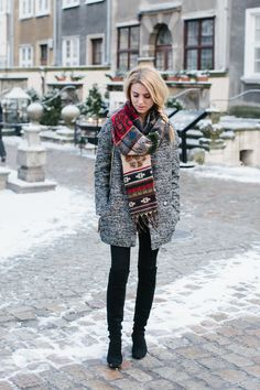 Oversized scarves will always make a fantastic addition to your winter outfit…