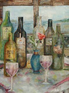 Wine Art Paintings | Beth Paffenback, Artist