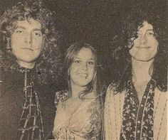 Robert Plant & Jimmy Page with Lita Ford of the Runaways in L.A.