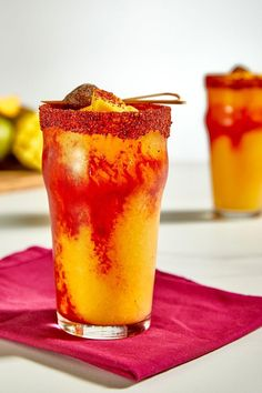 Mango Drinks, Fruit Drinks, Summer Drinks, Cocktail Drinks, Healthy Drinks, Cocktail Recipes, Alcoholic Drinks, Beverages, Cocktails