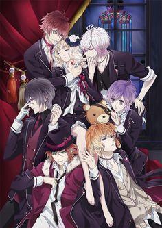 Diabolik Lovers ~Haunted dark bridal~ | Komori Yui | Sakamaki Ayato | Sakamaki Kanato | Sakamaki Laito | Sakamaki Reiji | Sakamaki Shuu | Sakamaki Subaru