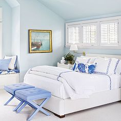 Manchester-by-the-Sea, Massachusetts, master bedroom | Coastalliving.com