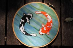 Ying and Yang embroidery