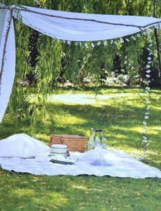 A picnic under a canopy...