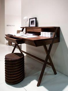 Wooden secretary #desk NAVARRA by Riva 1920 | #design Maurizio Riva, Davide Riva @riva1920