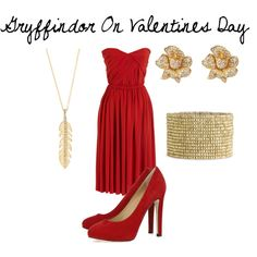 Gryffindor On Valentines Day, created by nearlysamantha on Polyvore