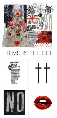 """don't ever let them silence you"" by psychrose ❤ liked on Polyvore featuring art"