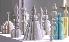 paper sculptures by ferry staverman - designboom | architecture
