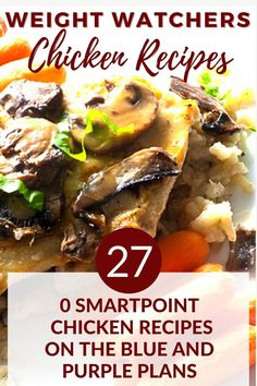 Here are over 25 healthy, low carb chicken dishes perfect for lunch or dinner. Some WW chicken recipes featured are: Chicken Marsala, Skewered Thai Chicken Strips, Grilled Filipino Chicken, Cajun Stuffed Chicken Breasts and lots more! Low Carb Chicken Recipes, Quick Recipes, Low Sugar Recipes, No Sugar Foods, Easy Healthy Recipes, Healthy Meals, Weight Watchers Appetizers, Weight Watchers Breakfast, Weight Watchers Meal Plans