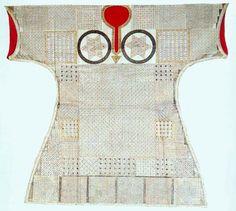 """Şehzade Selim'e ait, 1564-1565 yıllarına ait bir """"tılsımlı"""" gömlek... Topkapı Müzesi.."""
