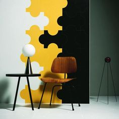 not this design exactly, but I like the graphic colored wall art Progetto Triennale, Marazzi
