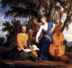 Le Sueur, Eustache - Melpomène, Érato et Polymnie - 1652 - 1655 - Muse - Wikipedia, the free encyclopedia