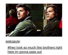 Brothers Sam and Dean Winchester Supernatural