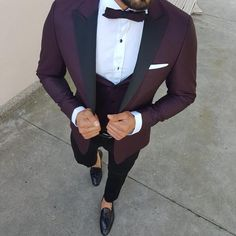 Available Size : Suit material : viscose , polyester , lycra Machine washable : No Fitting : slim-fit Cutting : double slits, cover pocket, double button Remarks : Dry Cleaner Tuxedo Colors, Red Tuxedo, Tuxedo Suit, Tuxedo For Men, Modern Tuxedo, Slim Fit Tuxedo, Slim Fit Suits, Tuxedo Wedding, Wedding Suits