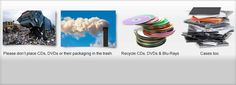 CDs/DVDs should not be placed in residential trash or recycling. Find a proper recycling facility here.