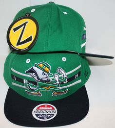 54f27512d6e Notre Dame Fighting Irish Green Front Runner Snapback Hat by Zephyr