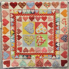Josephines Hearts by Roni Gerhardt.  Northern Star Quilters Guild.