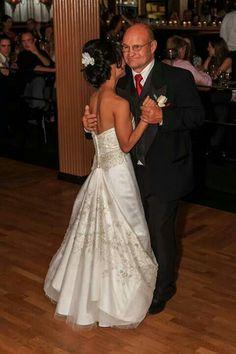 My Casablanca wedding dress busseled ♥
